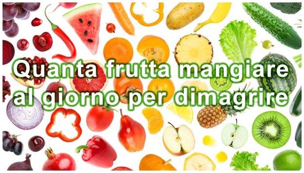 dieta frutta e verdura per perdere peso