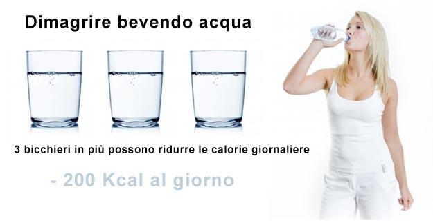 come bere correttamente lacqua per perdere peso